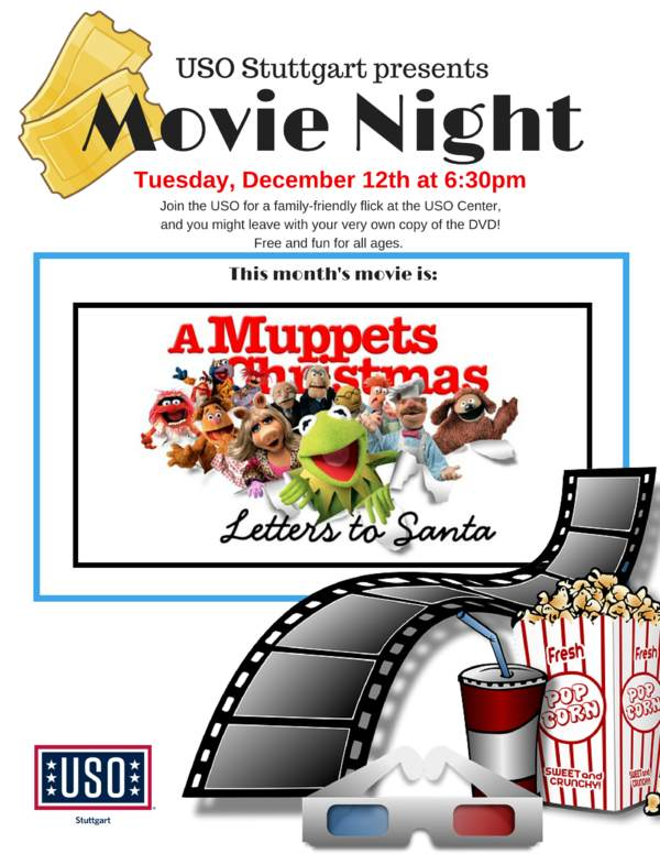 Movie night a muppets christmas uso stuttgart programs at this location spiritdancerdesigns Gallery